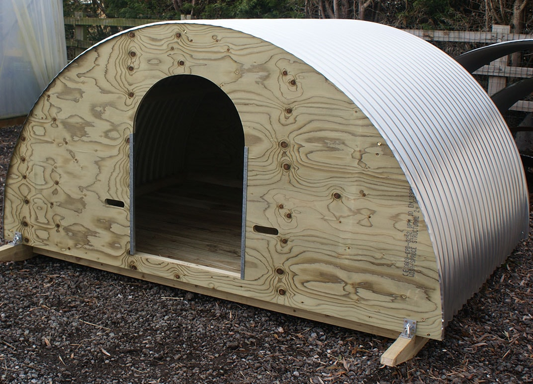 Self Assembly Pig and Animal Arks for Keeping Pigs at Little Morton Farm Derbyshire & Nottinghamshire