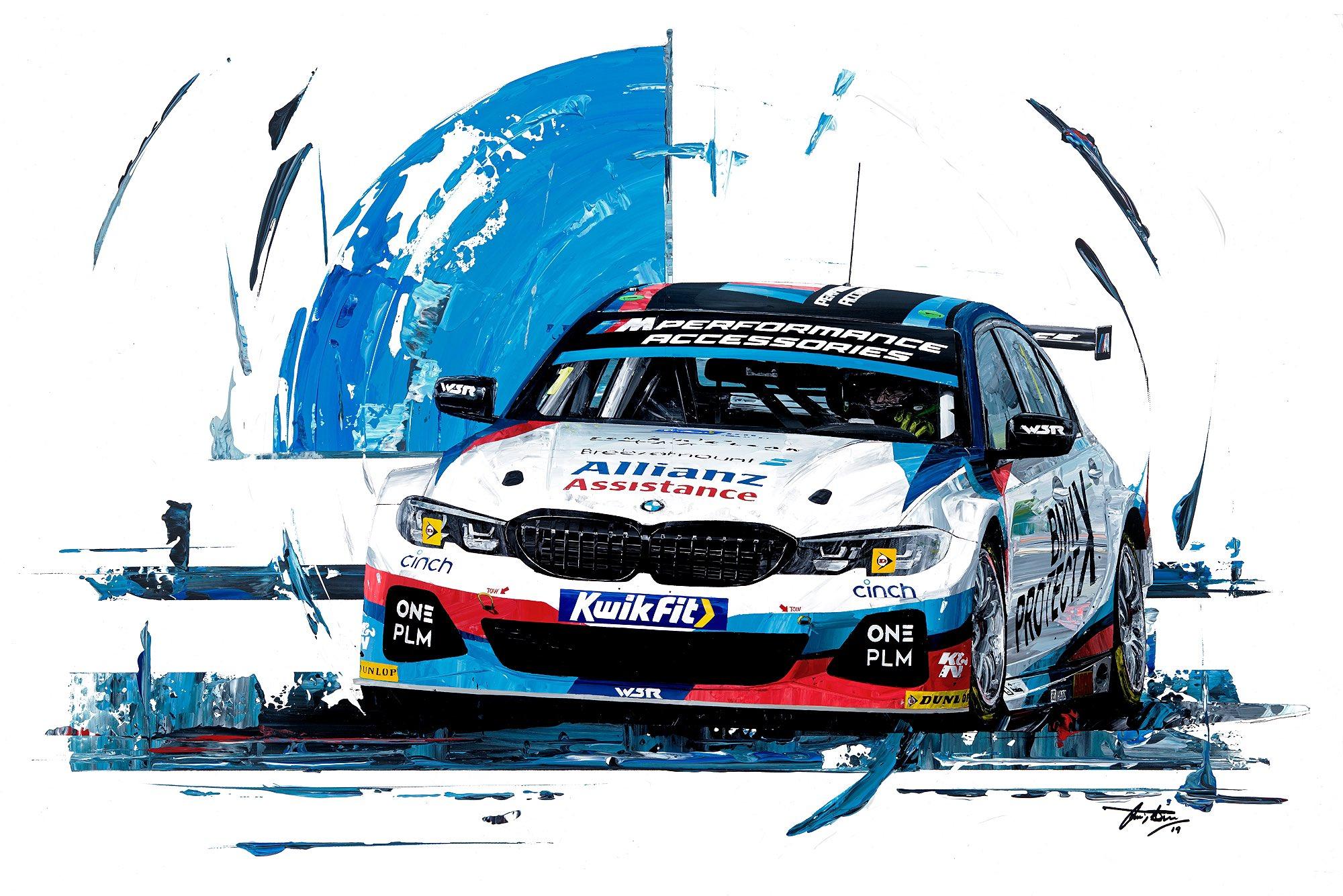 Colin Turkington 2019 Team BMW WSR hand embellished