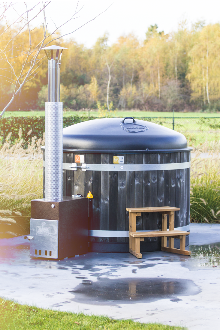 The Easy wood fired hot tub by Kirami supplied by Wood Fire Water in the UK