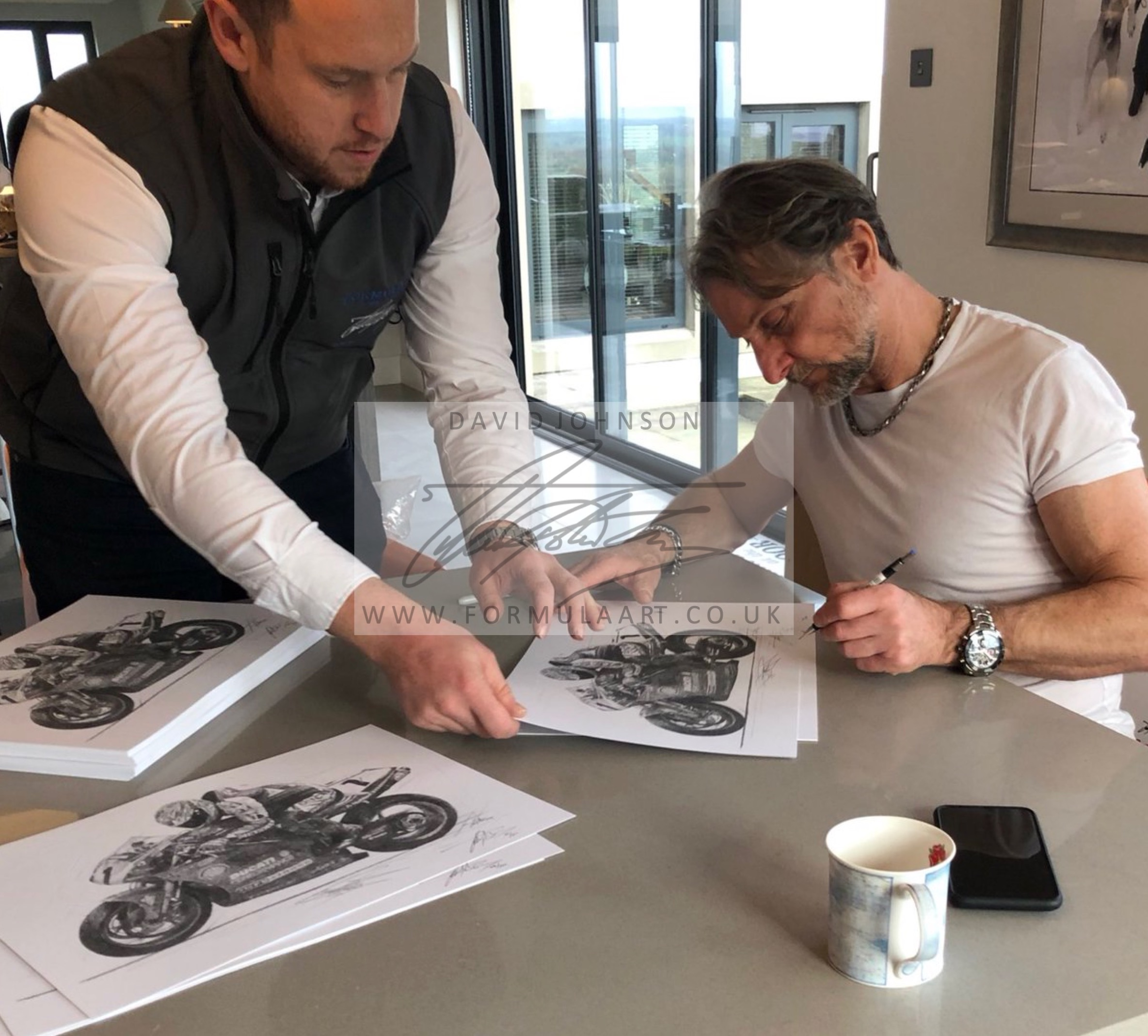 Carl Fogarty 4-Time SBK World Champion Print - Driver Signed Edition