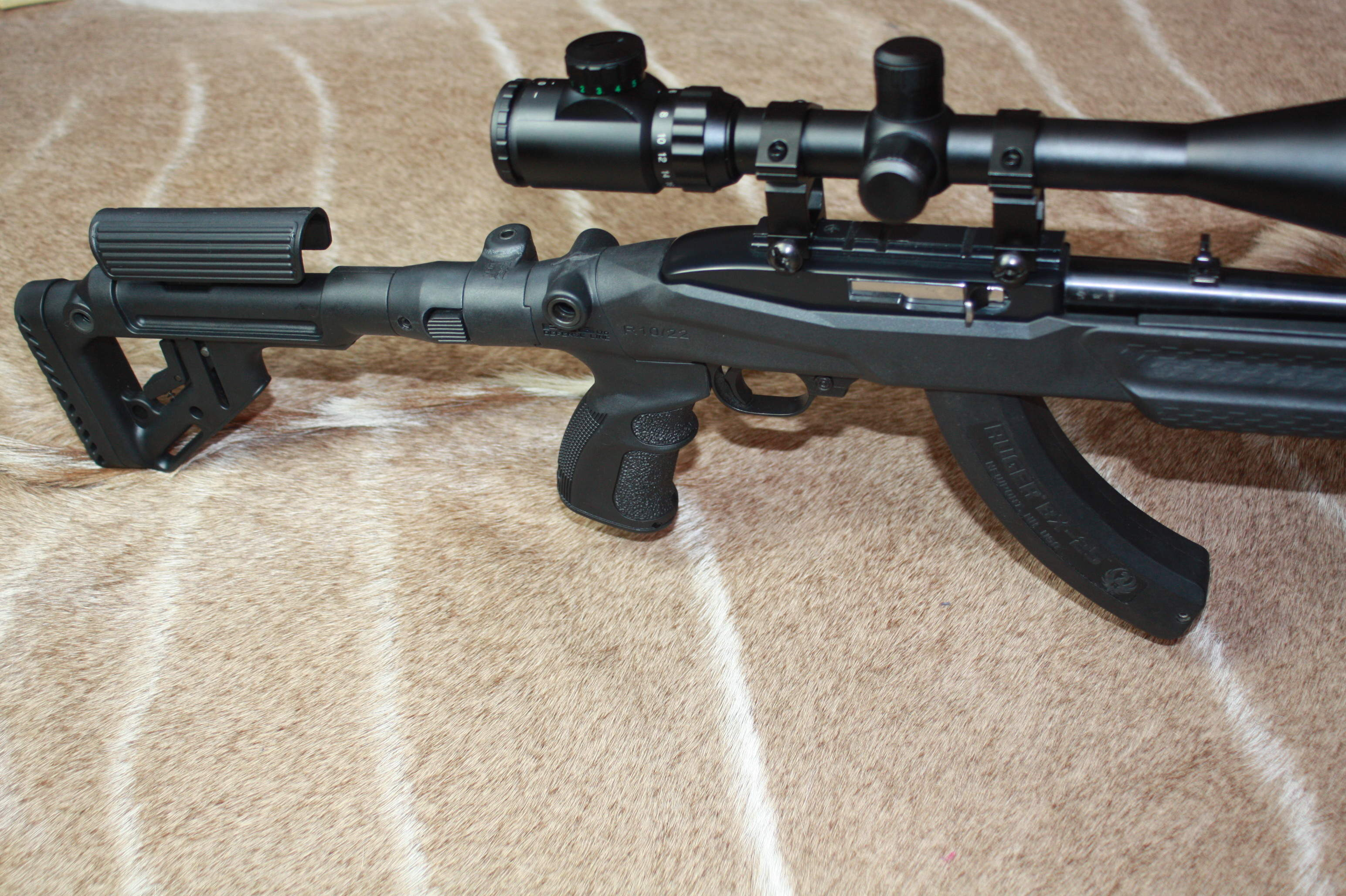 Ruger 1022 .22 LR Tactical Sniper semi auto rifle