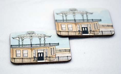 Summer Bandstand Coaster