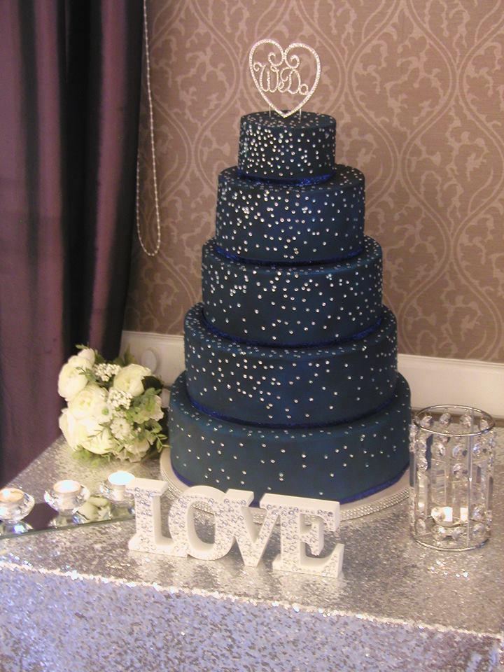 Blue sparkle cake