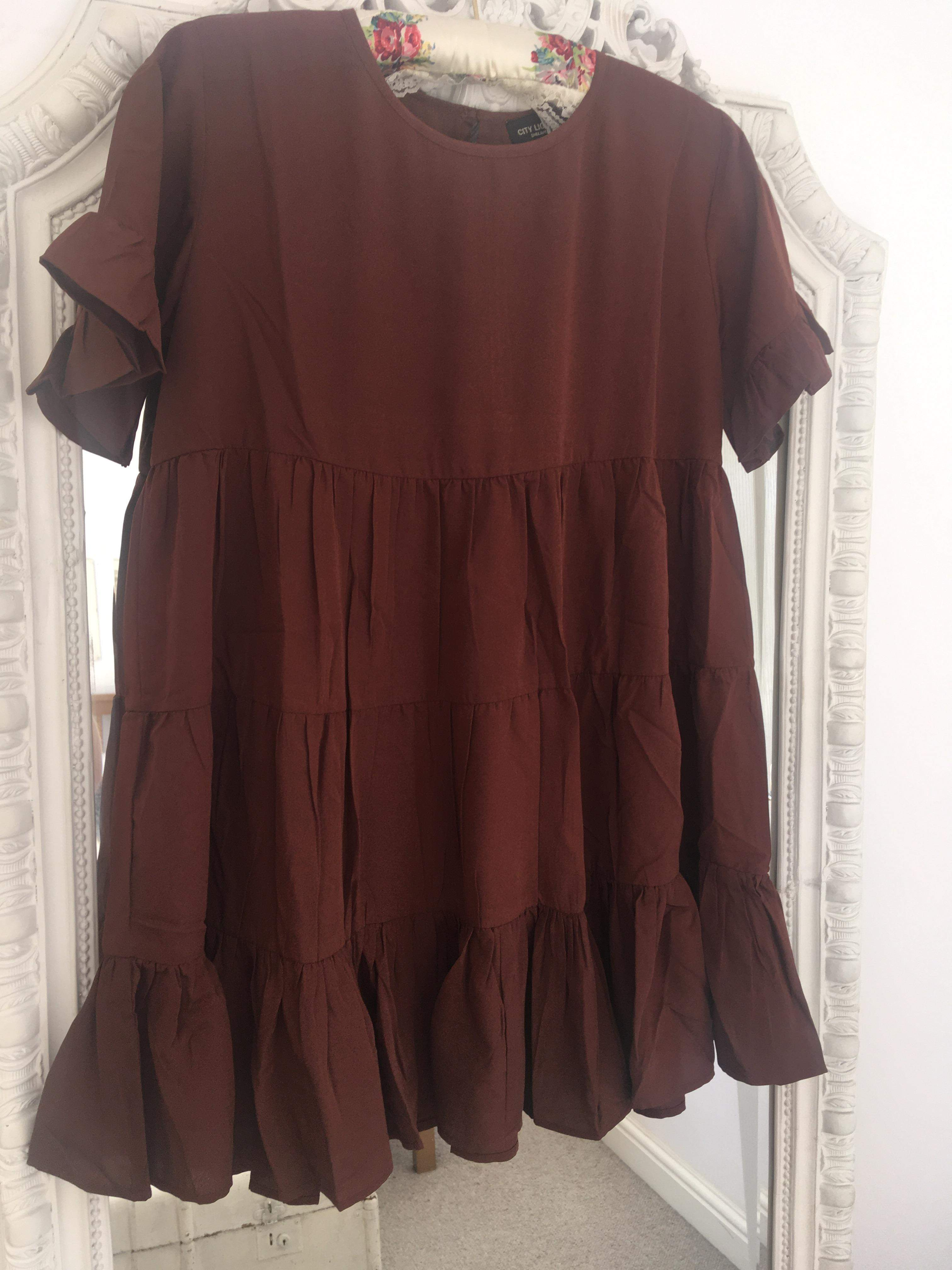 The Sienna Smock Mini Dress FREE SHIPPING