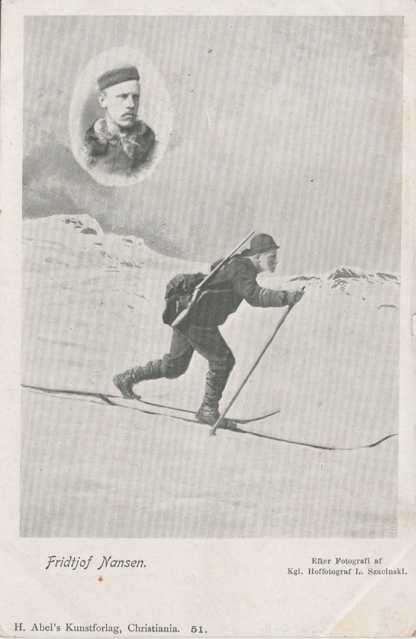 Fridtjof Nansen Crossing Greenland Postcard