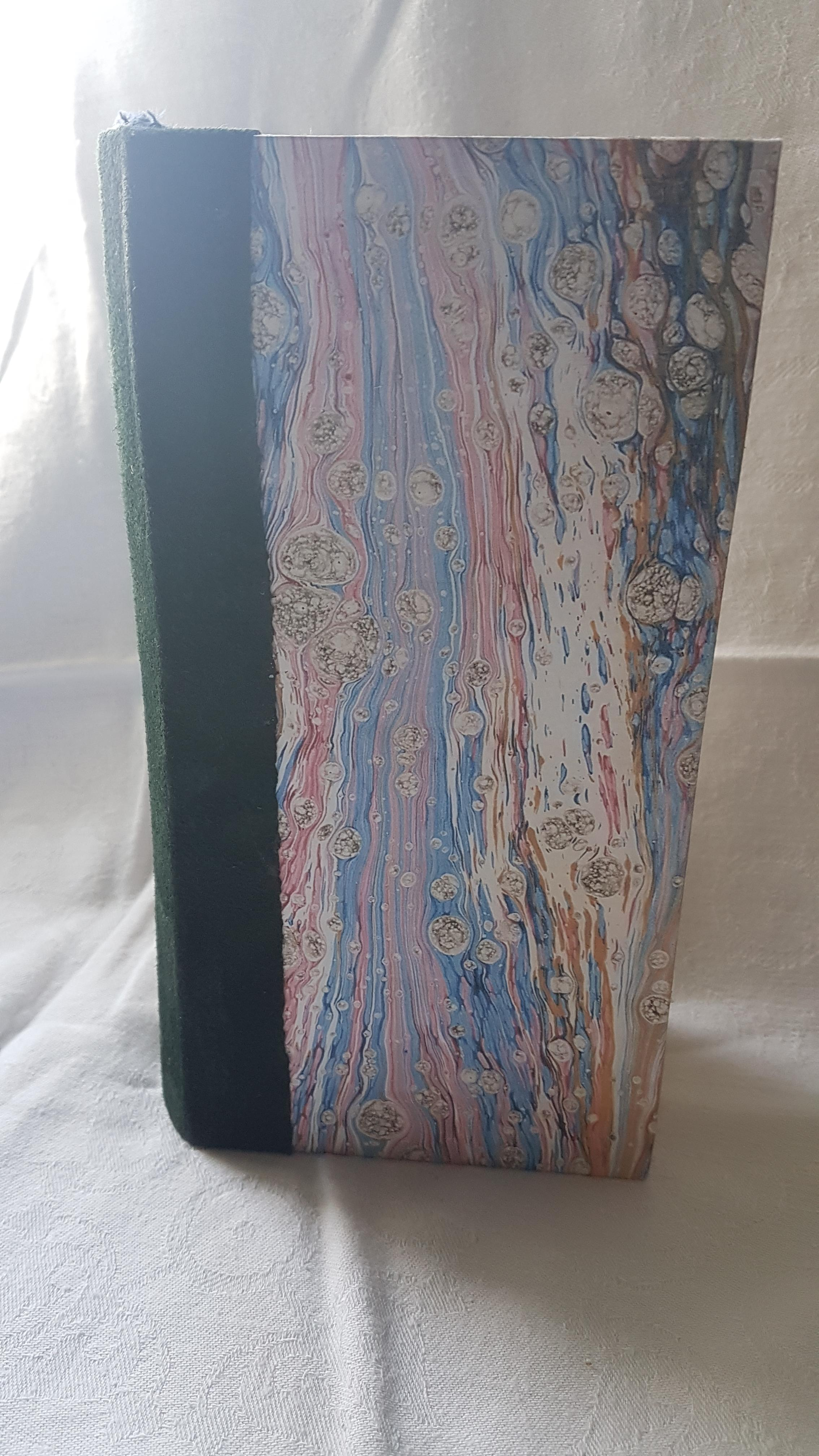 Marble print cover, plain page journal. - Sold