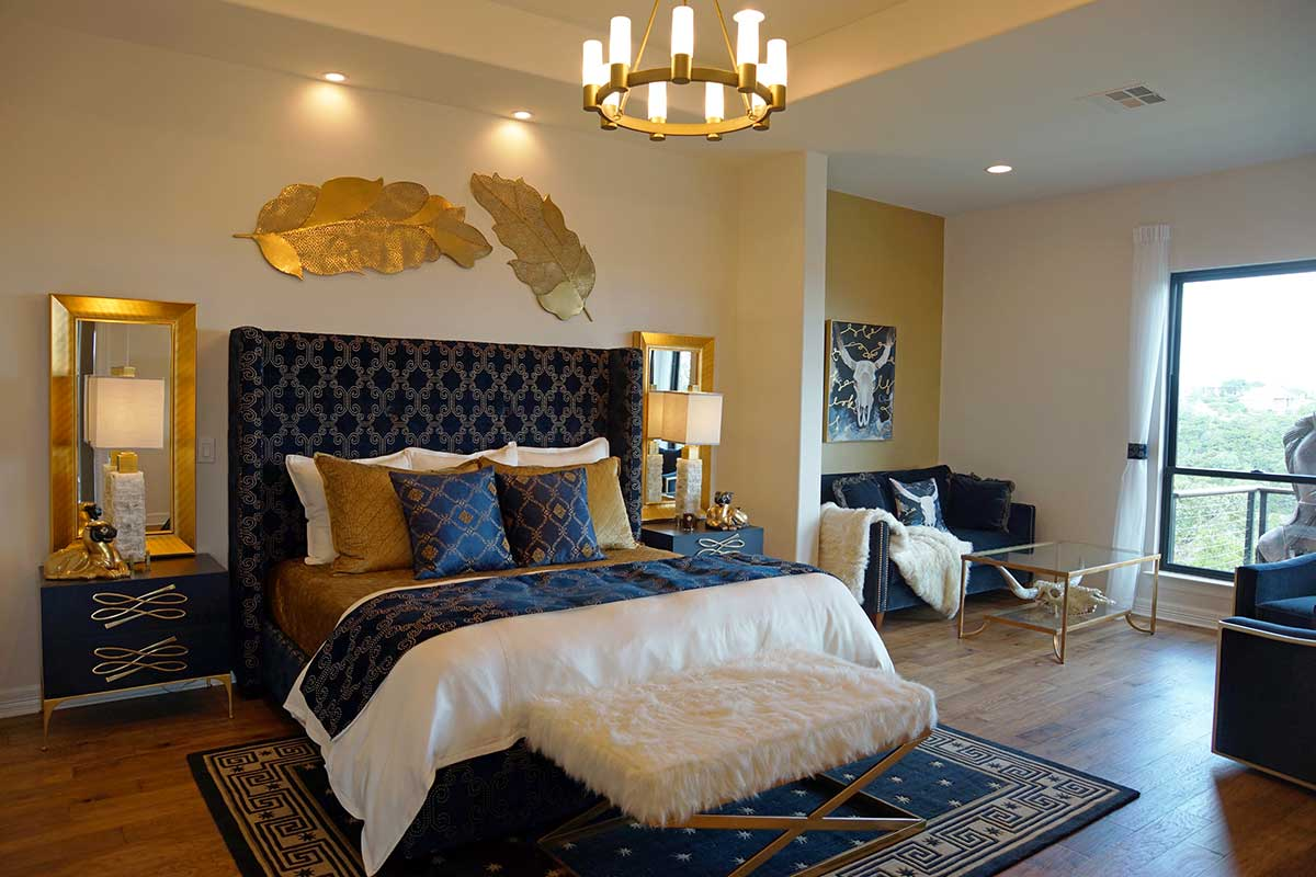 Magnificent master bedroom suite designed by Catrina