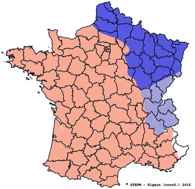 Water vole map France