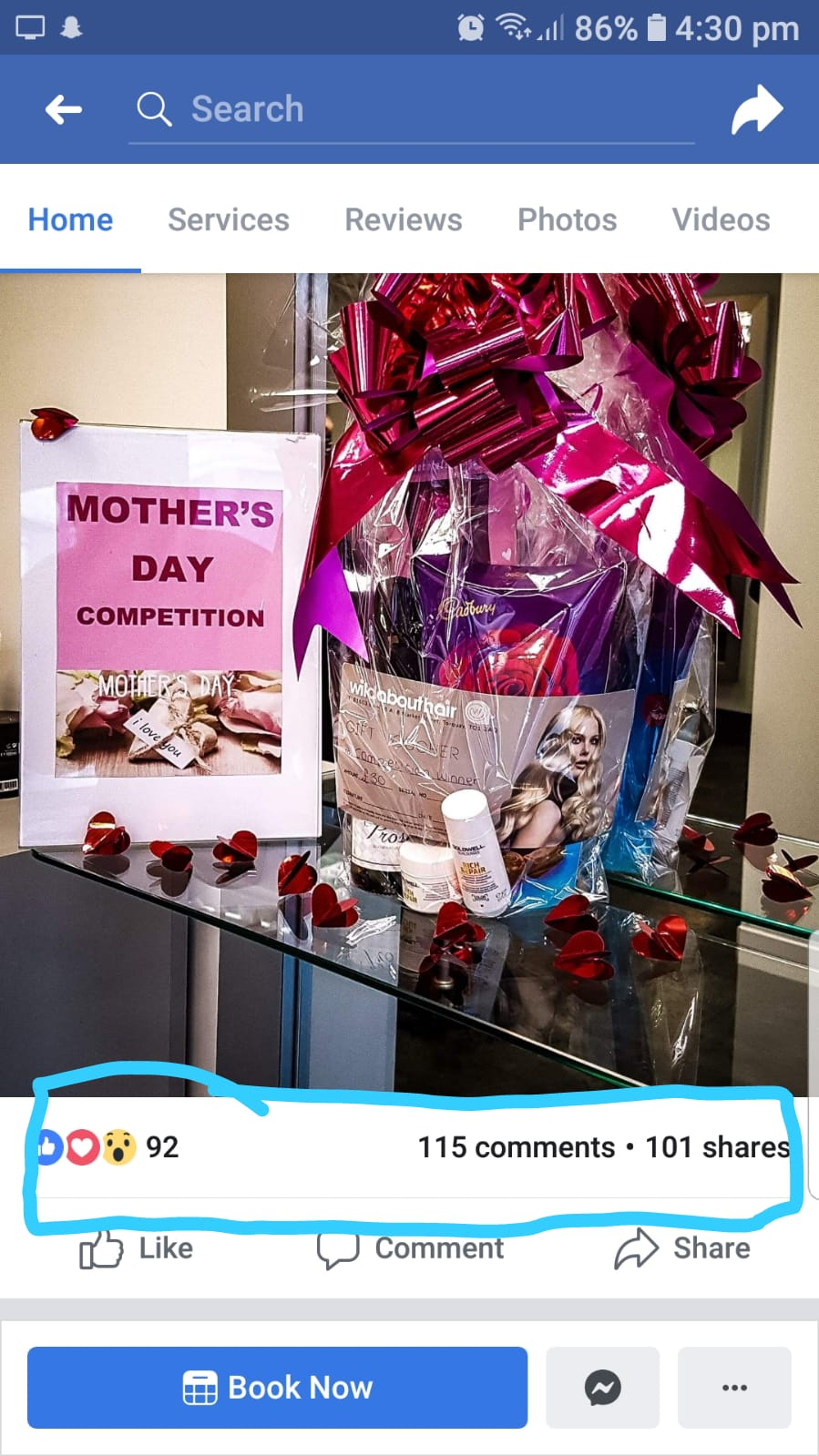 Mothers Day Competition drawn on the 30th March