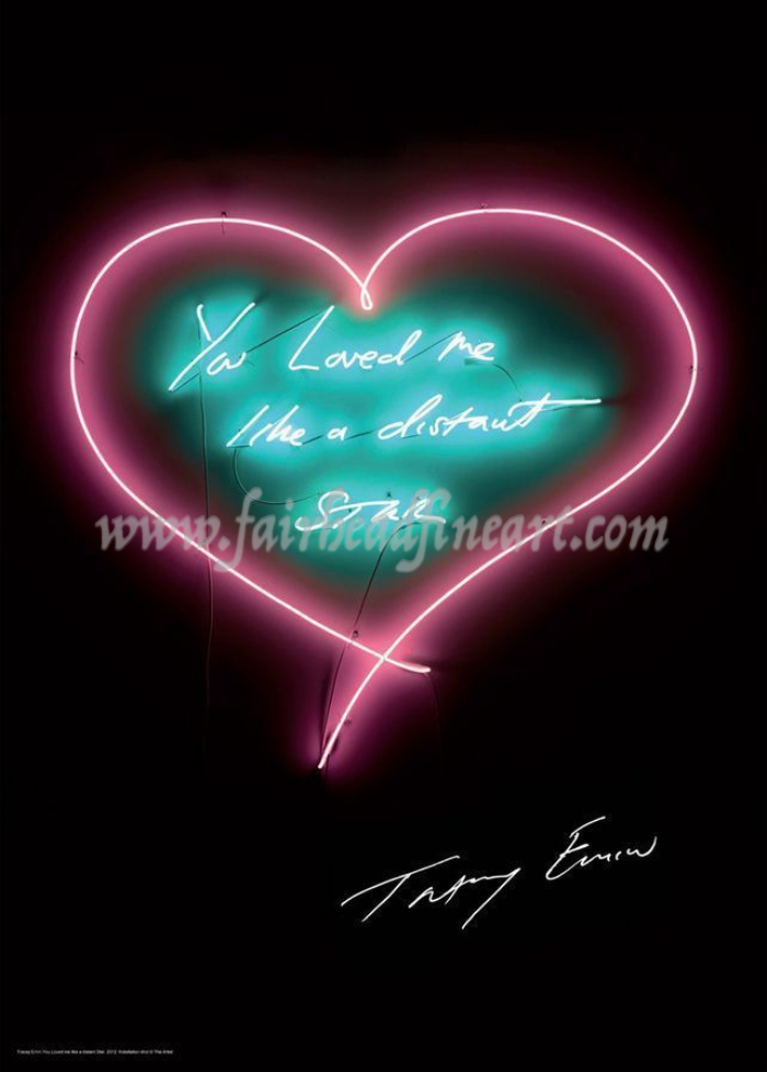 Tracey Emin You loved me like a distant star