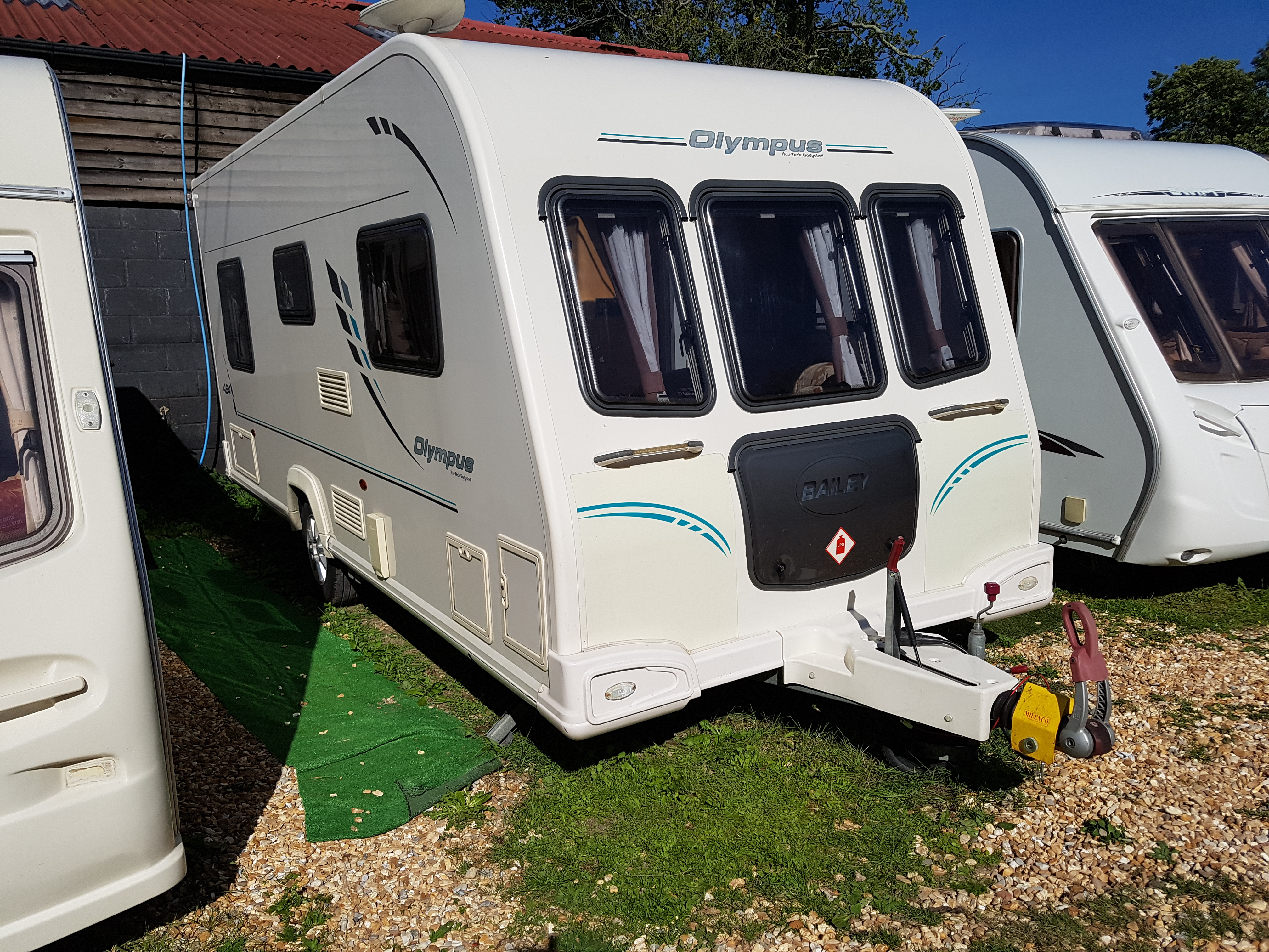 2011 Bailey Olympus 464  4 Berth Fixed Bed Lightweight Caravan with Motor Mover
