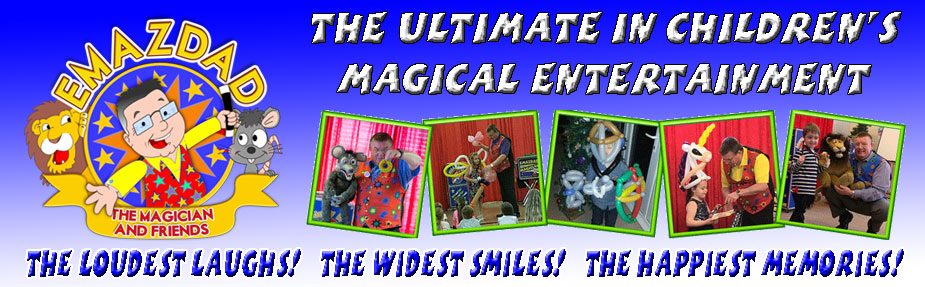 Emazdad the magician, Children's party entertainer, Plymouth, Devon and Cornwall