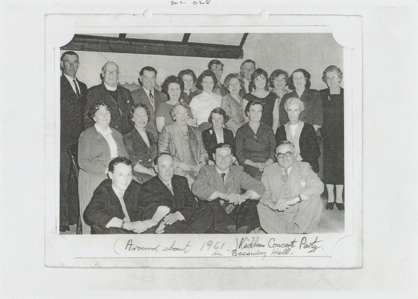 A group of Kirkbean residents who constituted the Concert Party