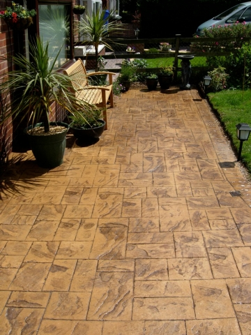 Ashlar slate Patio