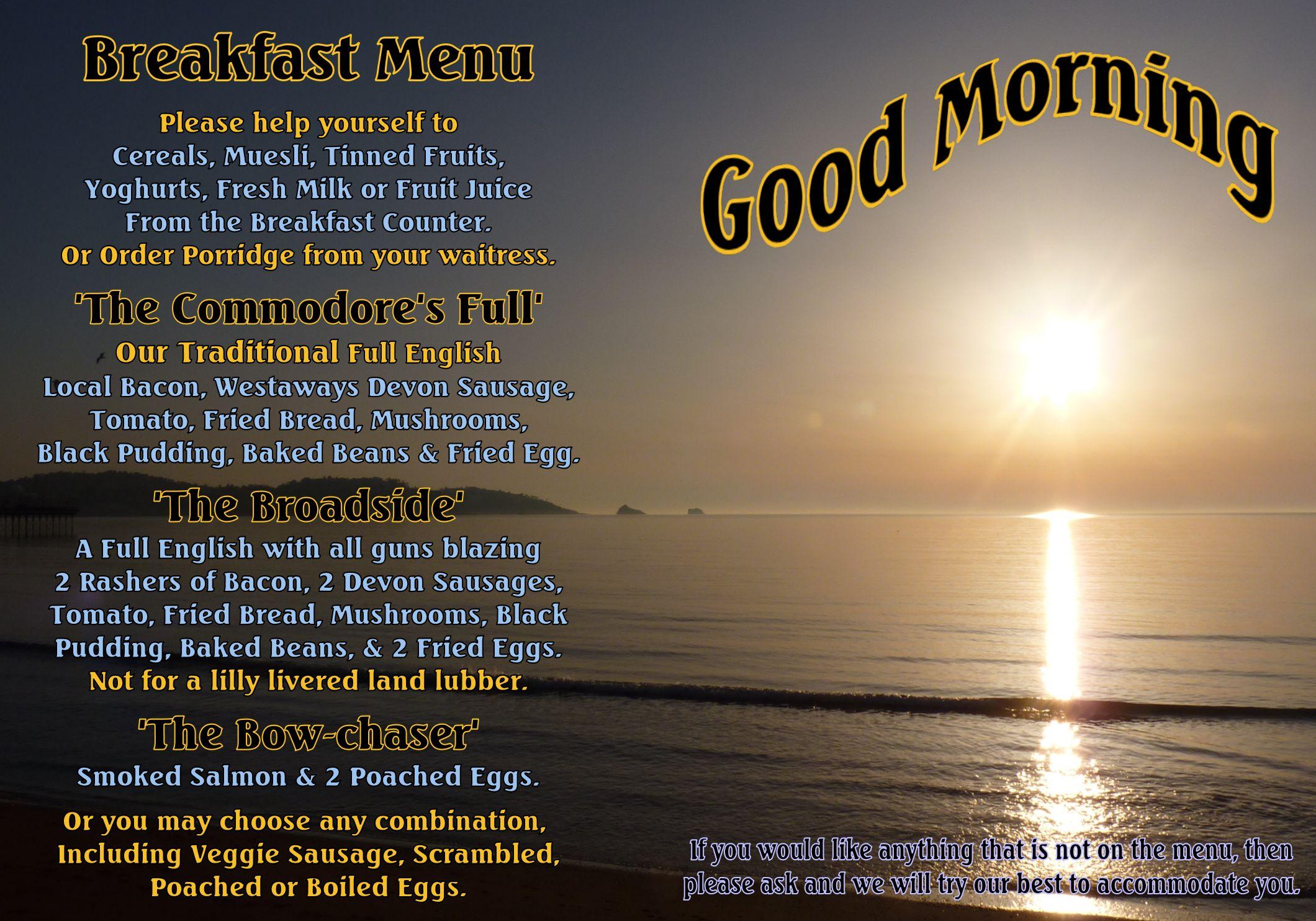 The Commodore Breakfast