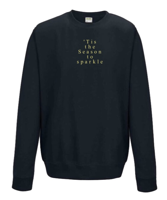 *Sold Out* FESTIVE COLLECTION 'Tis the Season to sparkle Boyfriend Fit Sweatshirt