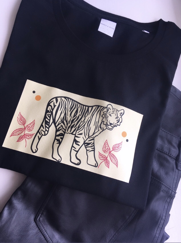 Tiger Lily Design Ladies Organic Tee