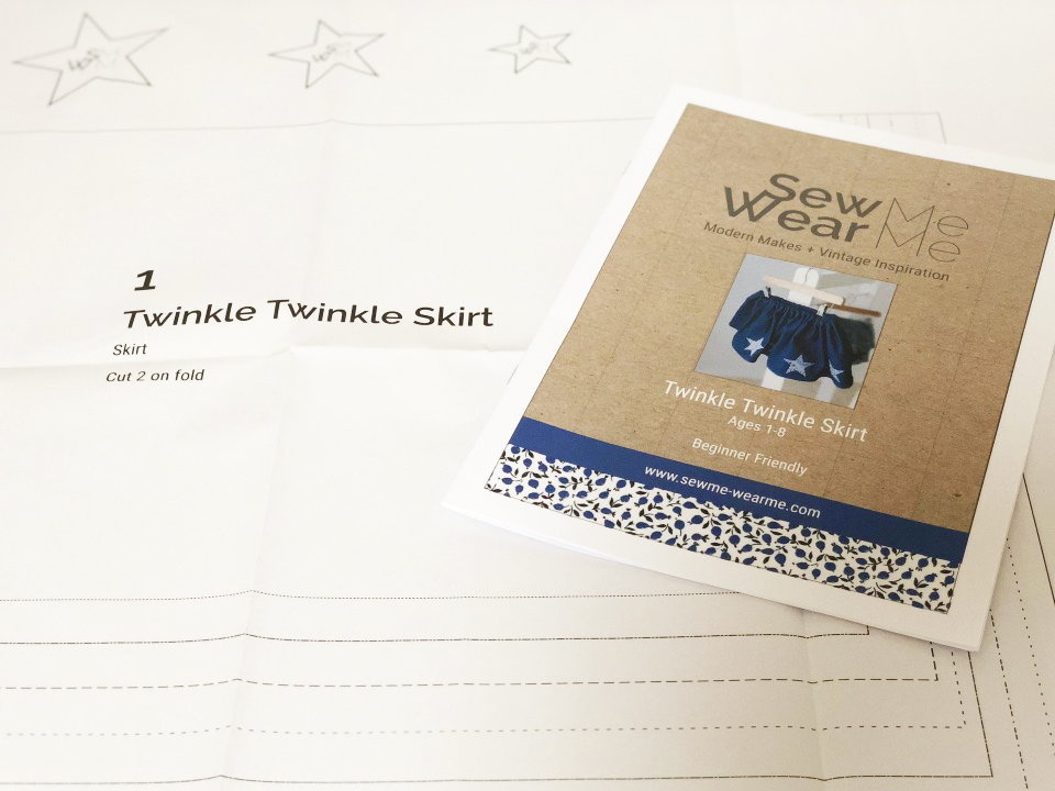 Twinkle Twinkle Skirt complete kit - LIBERTY fabric