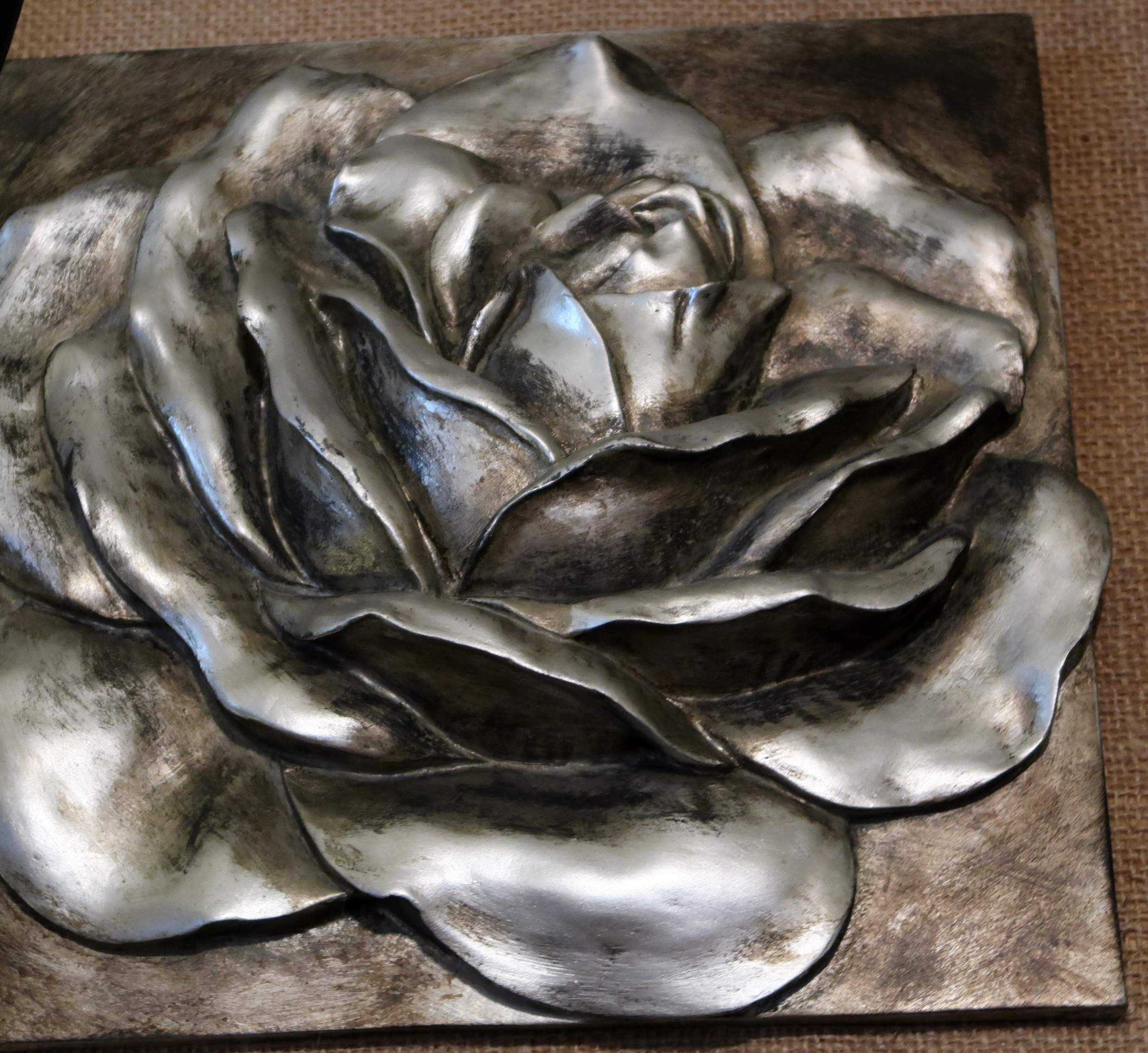 Silver Rose Plaque