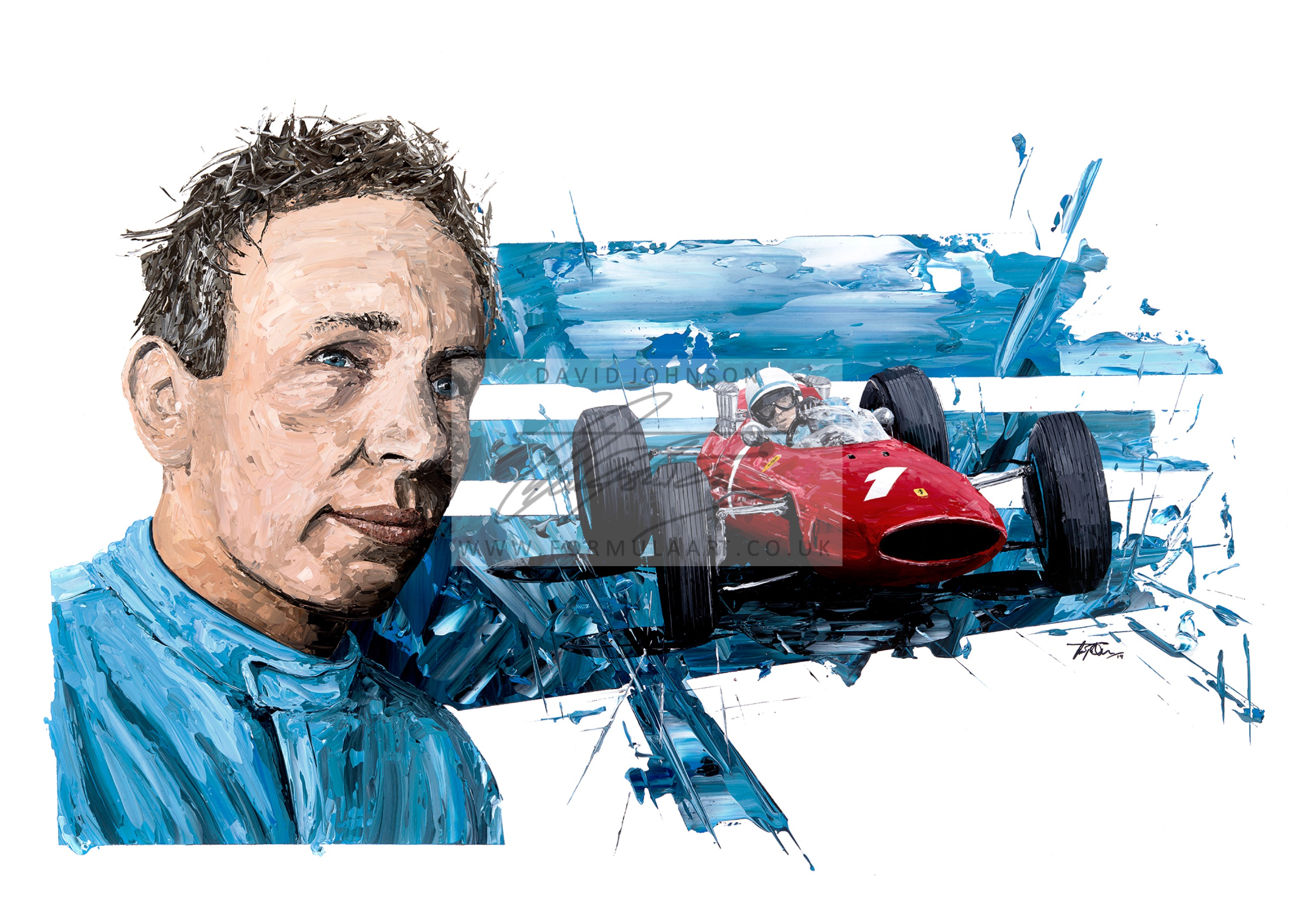 John Surtees 1964 F1 World Champion Giclee