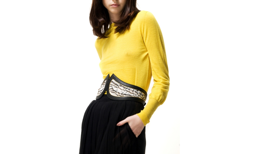 Louise feathers JLYNCH leather belt accessories