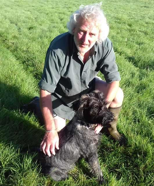 Giant Schnauzer with Philip
