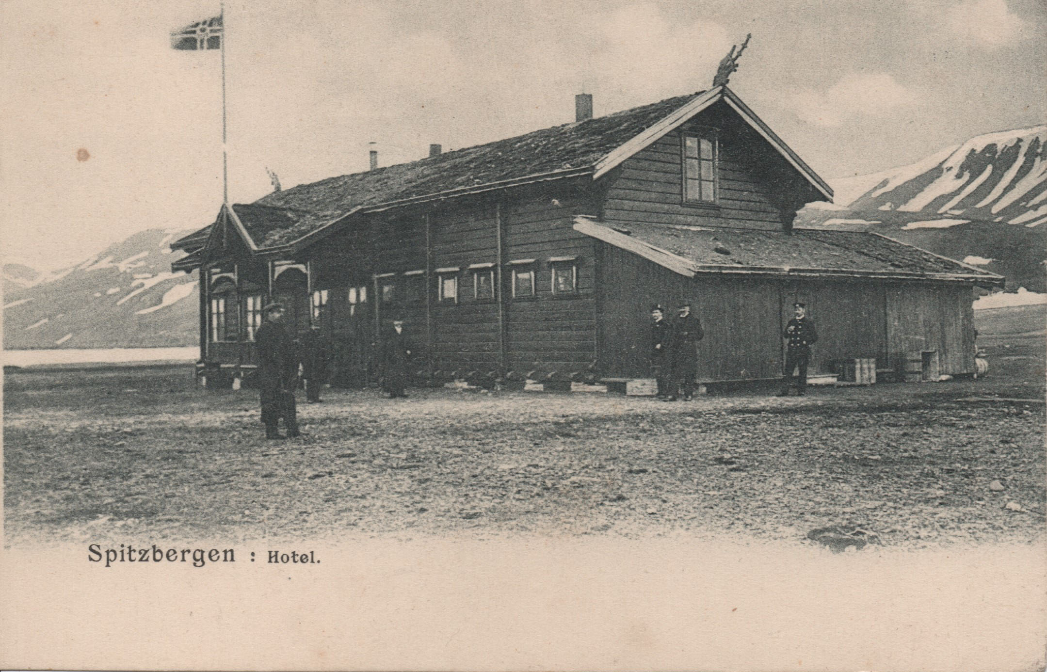 First Hotel and Post Office Spitzbergen 1900