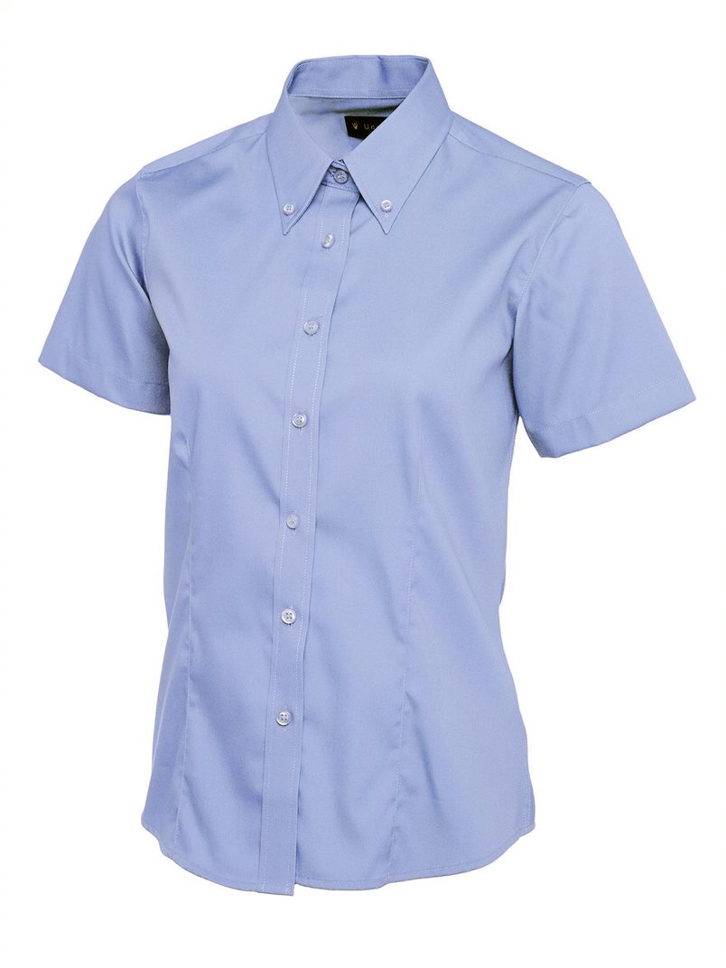 UNEEK UC704 WOMEN'S SHORT SLEEVED OXFORD SHIRT