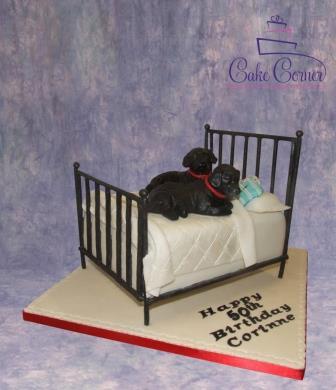 Dog Bed Cake