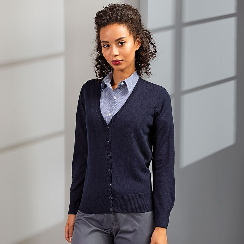 PREMIER PR402 WOMENS KNITTED CARDIGAN