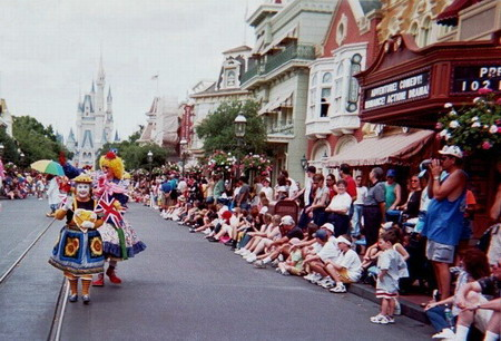 Posy leading the Disney Parade, Florida