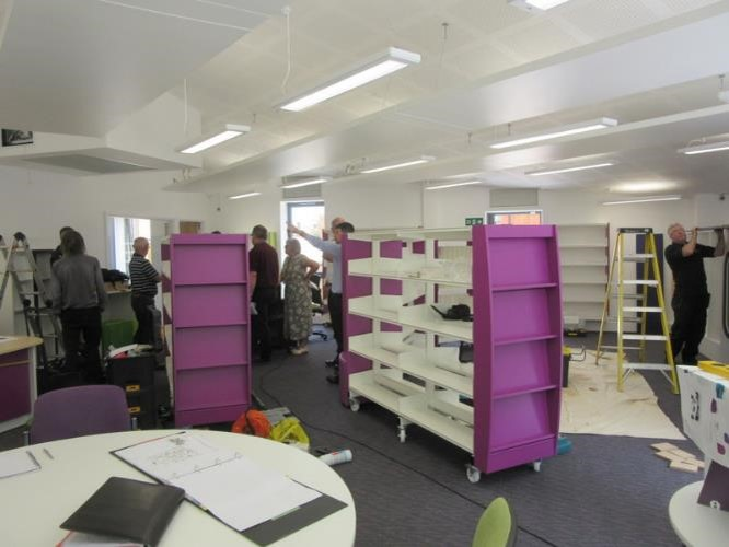 Inside Wheathampstead Library