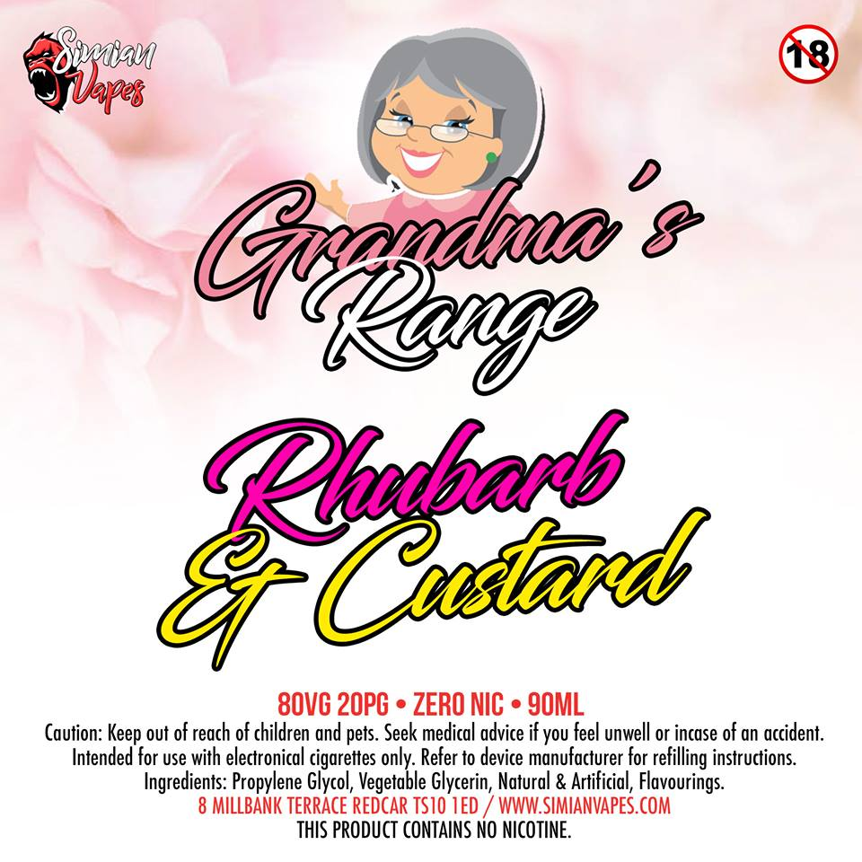 Grandmas Rhubarb and Custard
