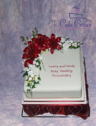 Ruby Annversary Cake