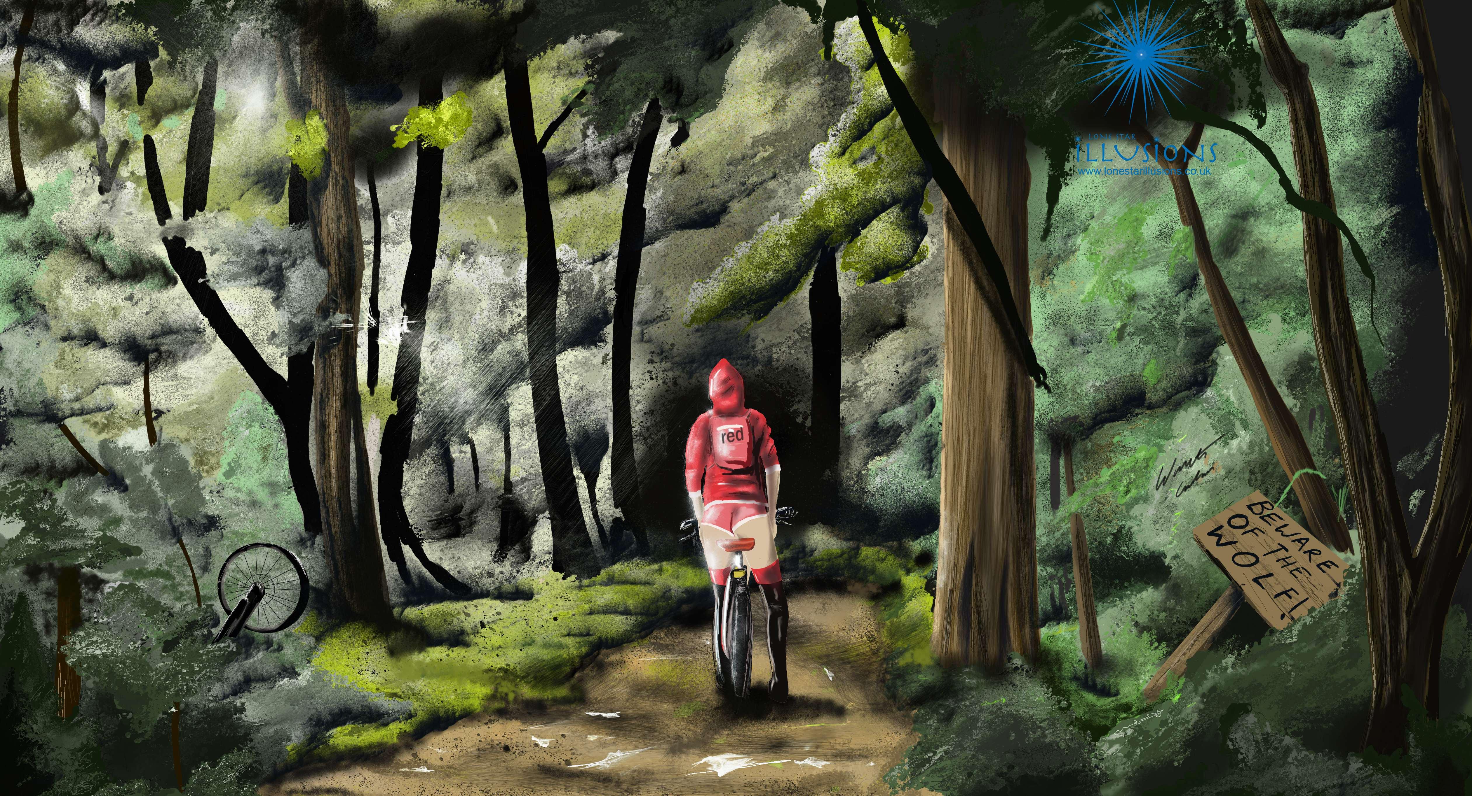 Red Riddinghood, Little Red Riddinghood, Red Ridding Hood Illustration, woods, Red Ridding