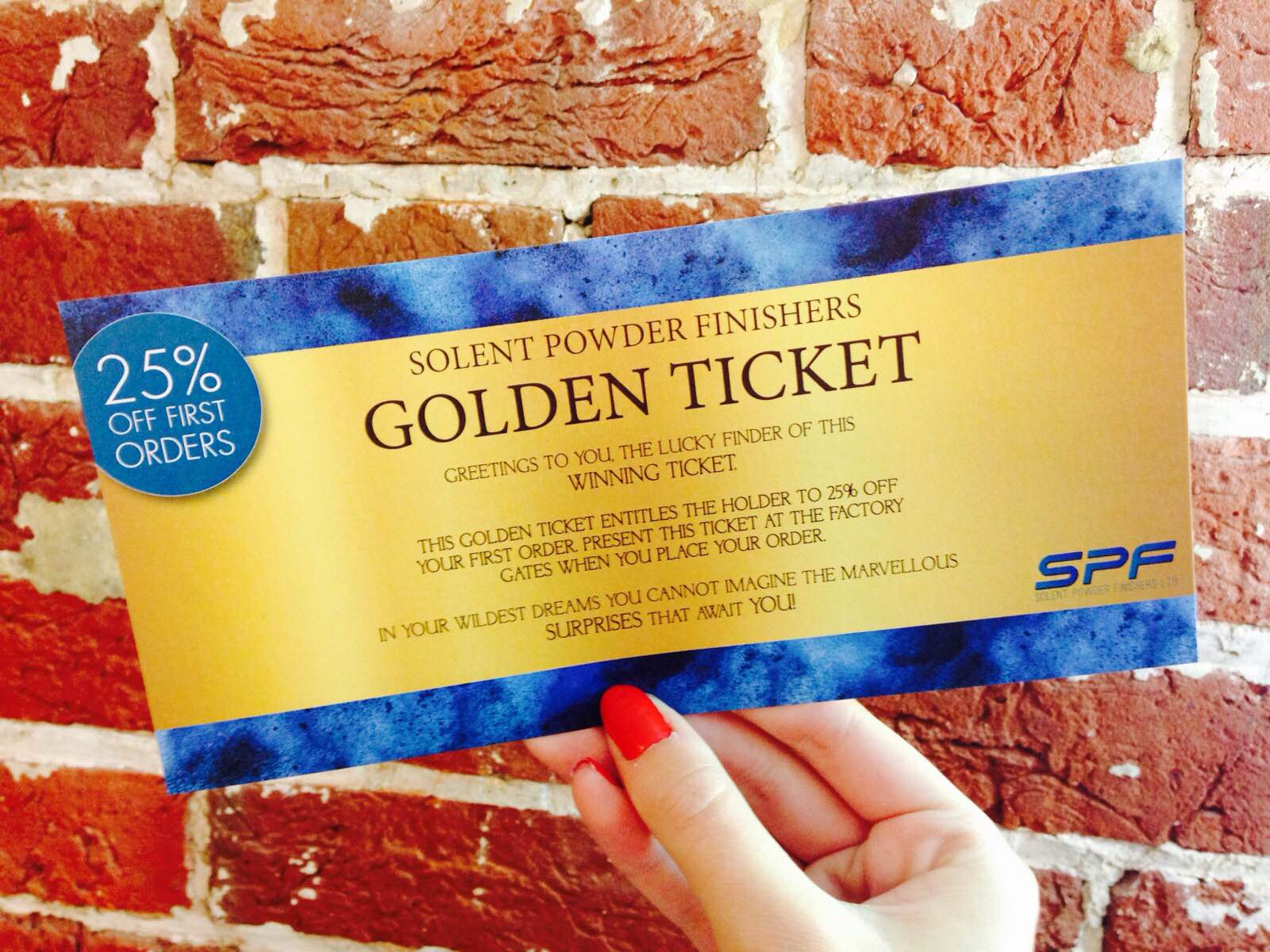 Congratulations on finding your golden ticket!