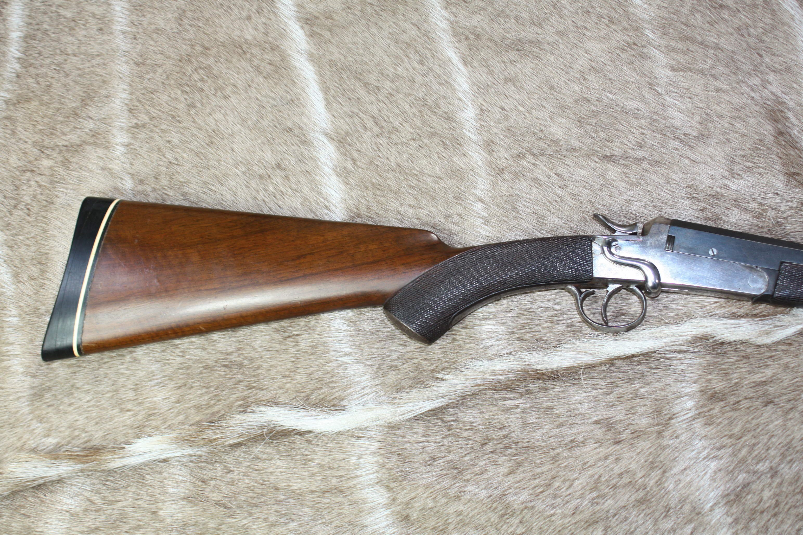 W. JEFFERY & SON. A LINED .22 HORNET SINGLE-BARRELLED SIDELEVER HAMMER ROOK RIFLE