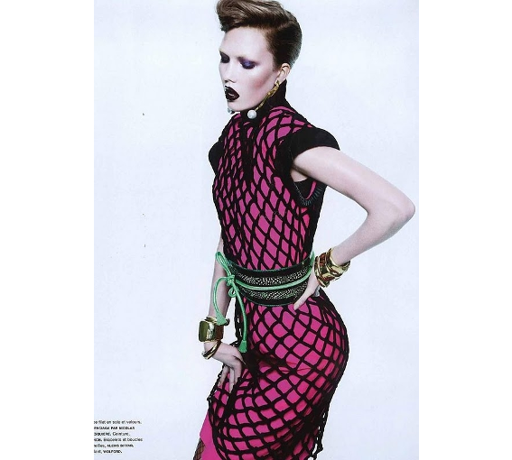 Numero magazine France FR  JLYNCH luxury belts handmade sustainable leather accessories london british design fashion Karlie Kloss