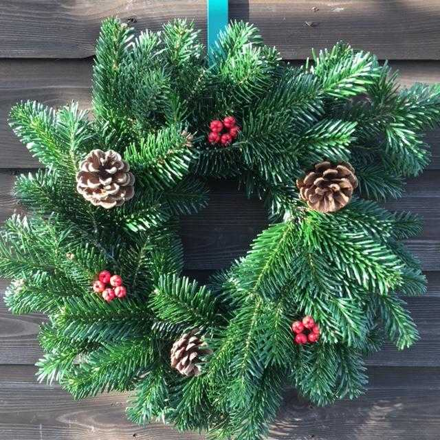 10 Inch decorated Nordman Fir wreath £20 inc P&P