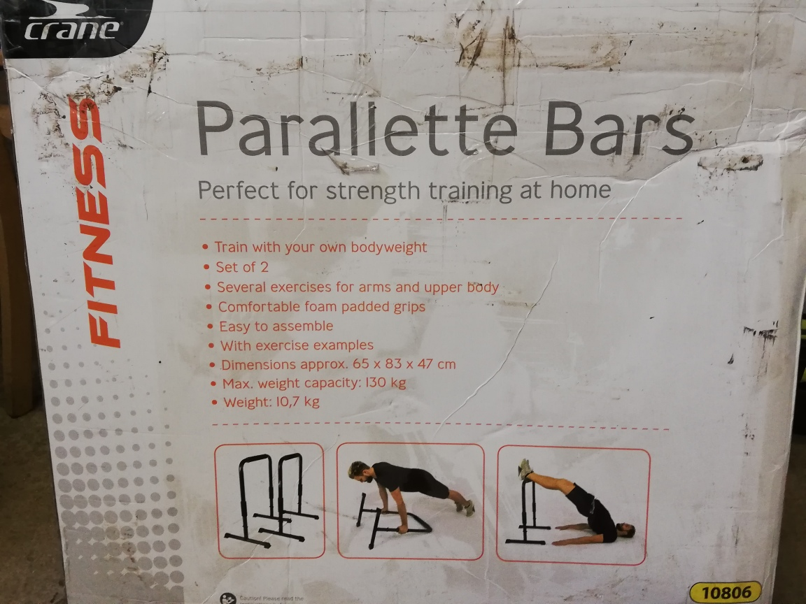 Parallette Bars - only 1 in stock (slightly damaged box)