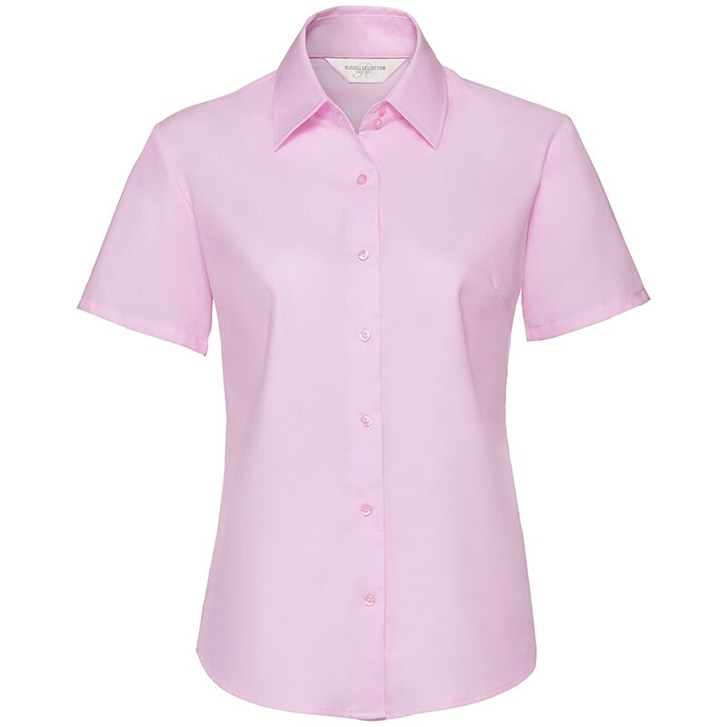 RUSSELLJ933F WOMEN'S SHORT SLEEVE OXFORD SHIRT