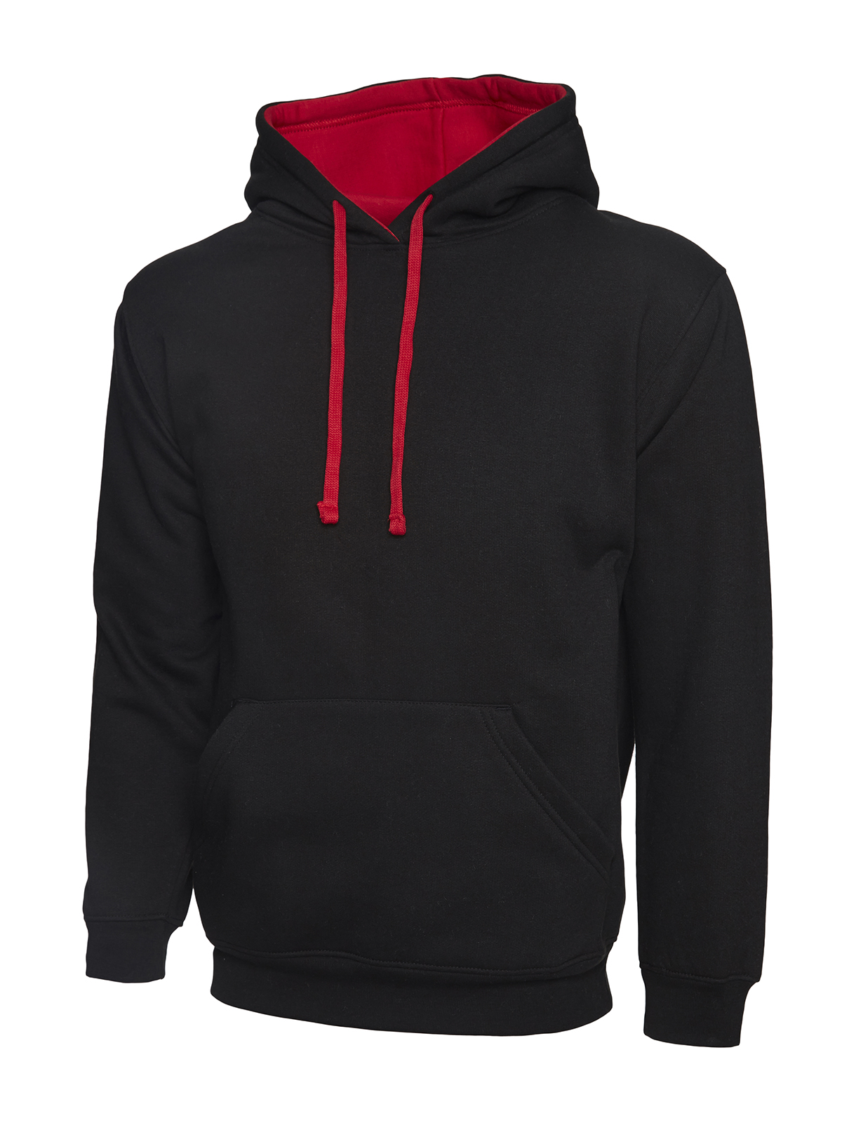 Uneek UC507 Contrast Hooded Sweatshirt A
