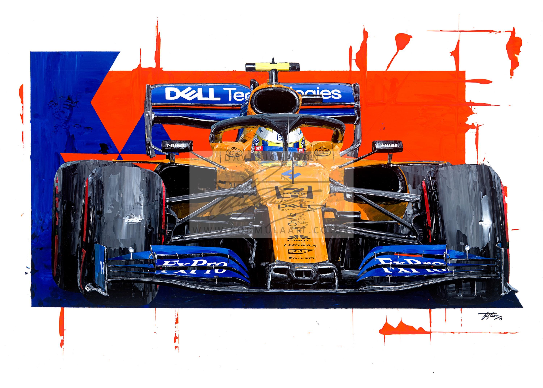 Lando Norris 2019 McLaren MCL34 hand embellished