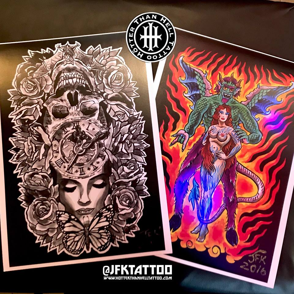 A3 Demon & Devil Girl and Life & Death Prints