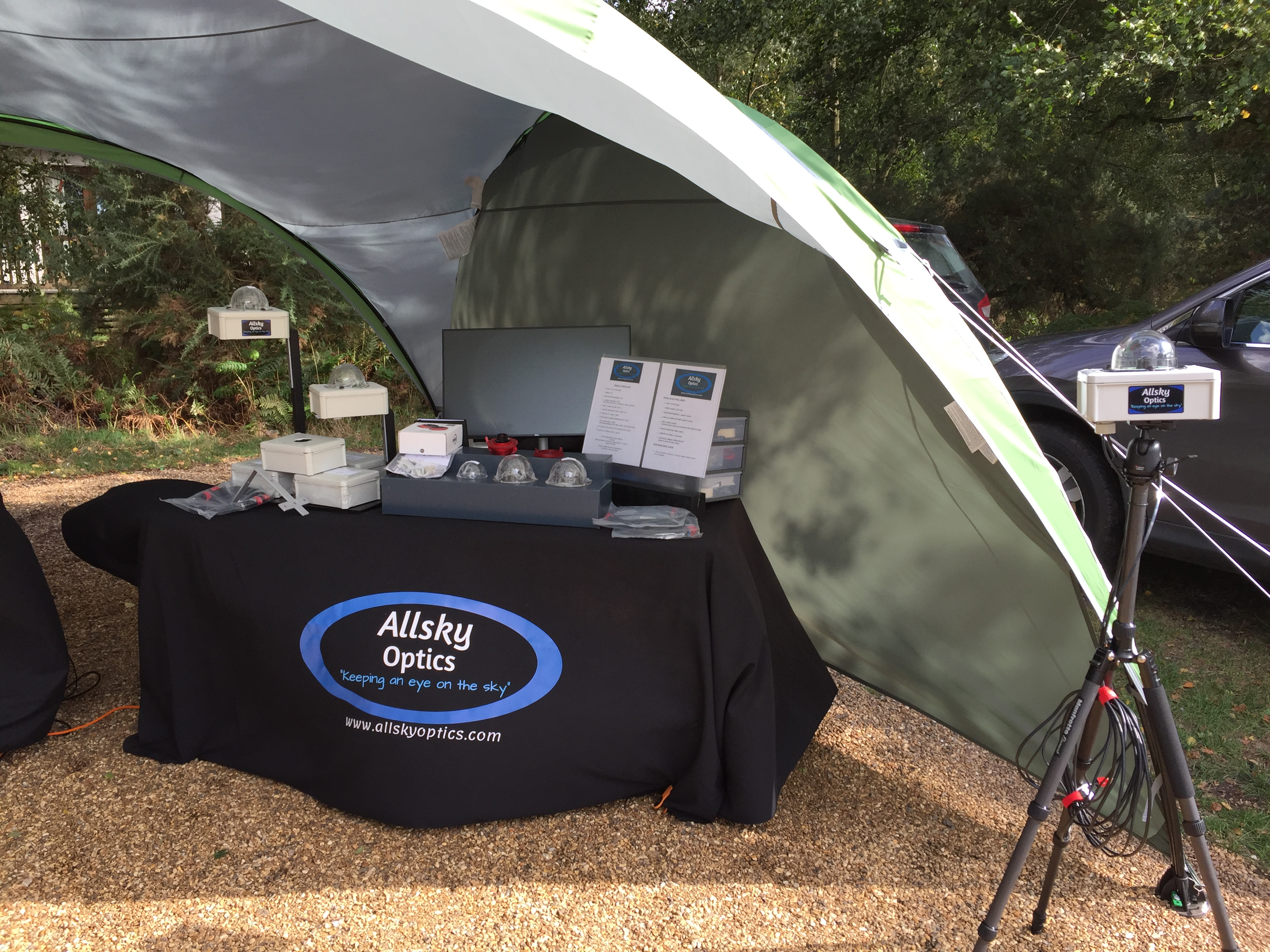 Launching Allsky Optics at kelling Heath, a do or die moment! 31/09/19.