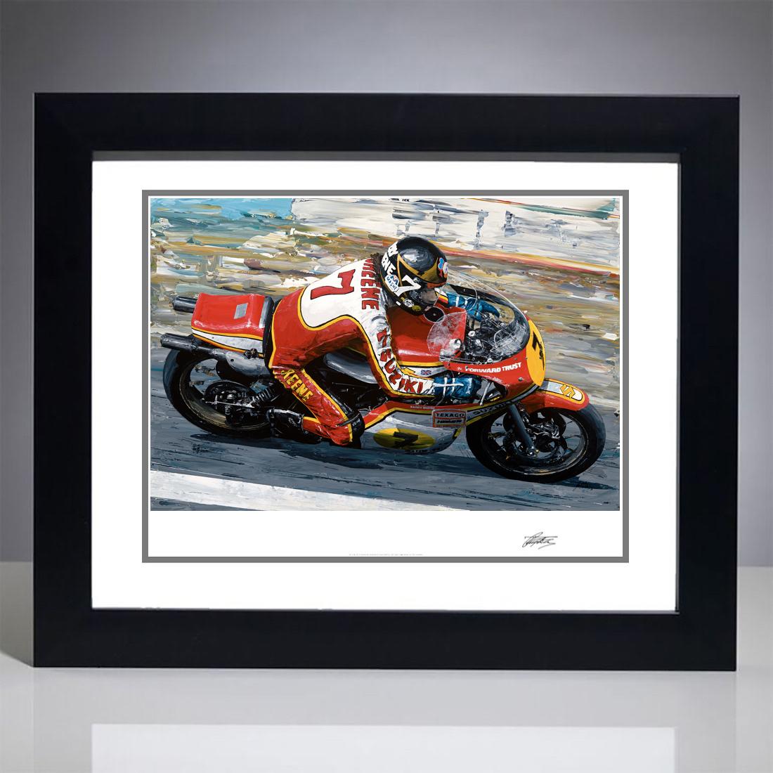 Barry Sheene 1977 Moto GP World Champion Giclee