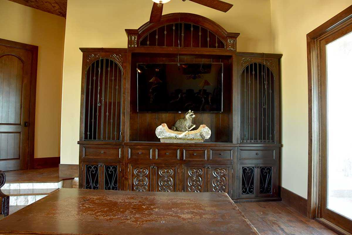 Fabulous large cabinet with carved doors