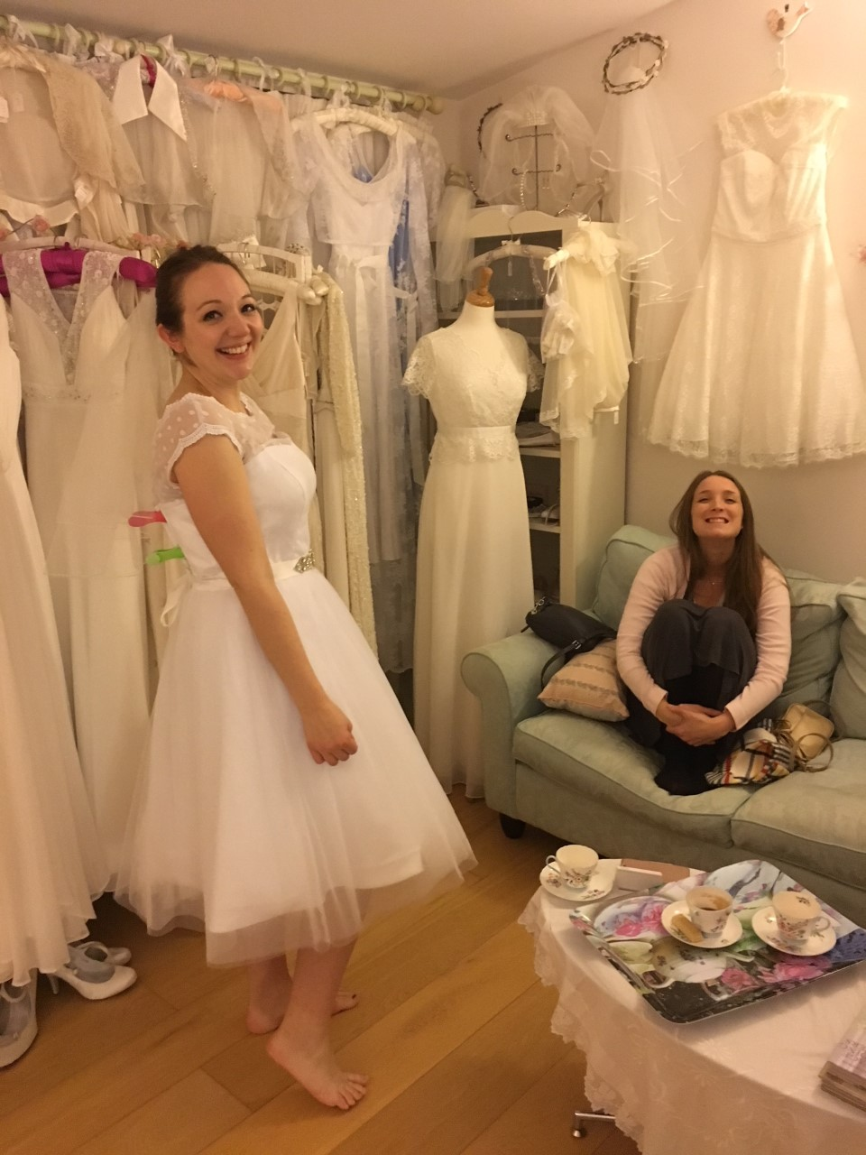 we sell vintage style wedding dresses from our bridal shop in Brighton.