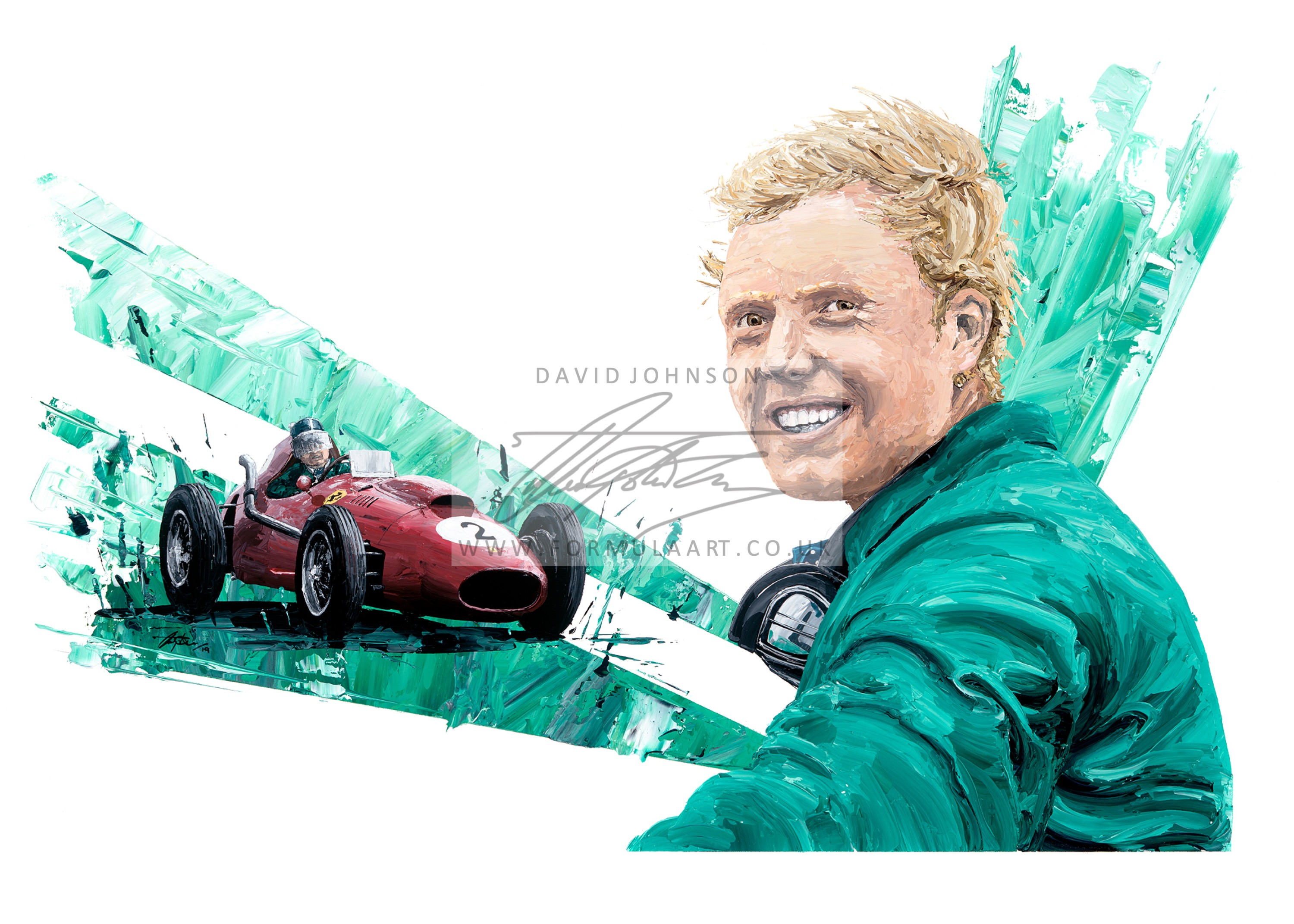 Mike Hawthorn 1958 F1 World Champion hand embellished