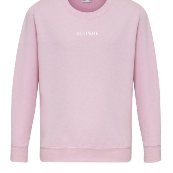 BLONDE Slogan Boyfriend Fit Sweatshirt
